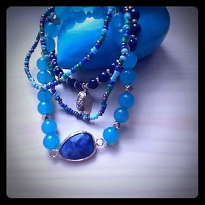 Beauty of Blue stretch bracelet set